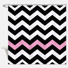 With A Light Pink Border Shower Curtain