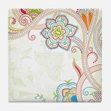 Ornamental Vintage Floral Tile Coaster