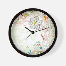 Ornamental Vintage Floral Wall Clock