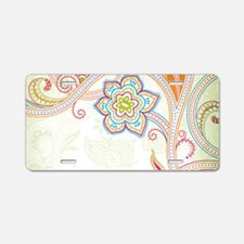 Ornamental Vintage Floral Aluminum License Plate