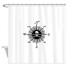 Cute Nautical sailing compass rose Shower Curtain
