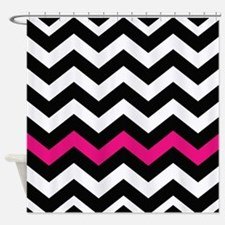 With A Hot Pink Border Shower Curtain