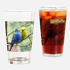 Budgie Love Drinking Glass