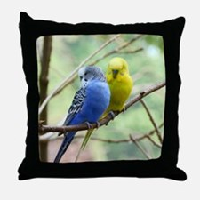 Budgie Love Throw Pillow