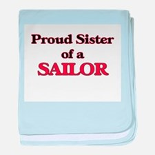 Proud Sister of a Sailor baby blanket