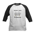 Bubble Bath Princess Kids Baseball Jersey