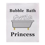 Bubble Bath Princess Throw Blanket