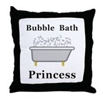 Bubble Bath Princess Throw Pillow