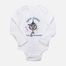 Unique Happy 3rd birthday Long Sleeve Infant Bodysuit