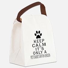 Petit Basset Griffon Vendeen Keep Canvas Lunch Bag