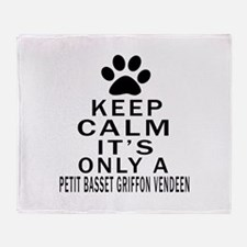 Petit Basset Griffon Vendeen Keep Ca Throw Blanket
