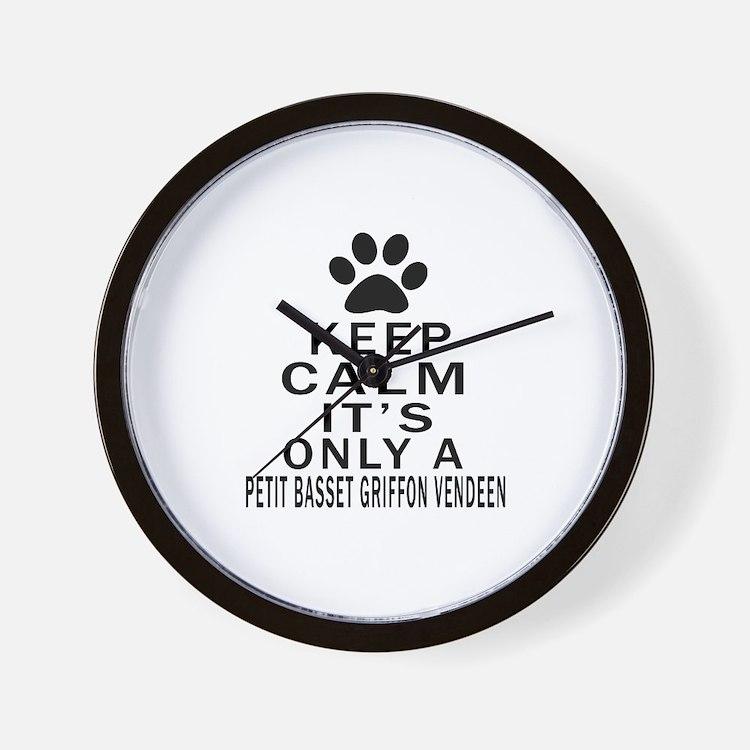 Petit Basset Griffon Vendeen Keep Calm Wall Clock