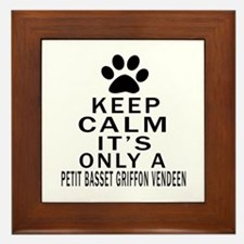 Petit Basset Griffon Vendeen Keep Calm Framed Tile
