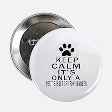 """Petit Basset Griffon Vende 2.25"""" Button (100 pack)"""