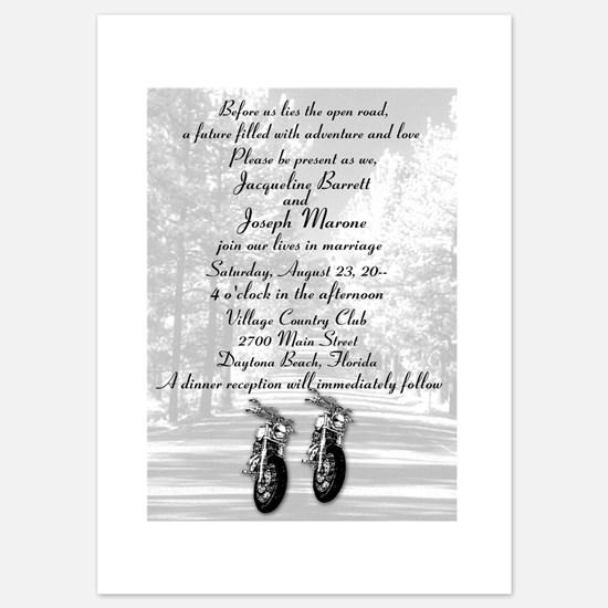 motorcycle invitations | motorcycle announcements & invites, Wedding invitations