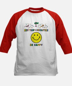 Funny New Year's Resolution Kids Baseball Jersey