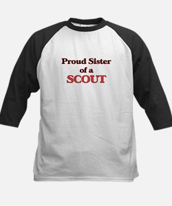 Proud Sister of a Scout Baseball Jersey