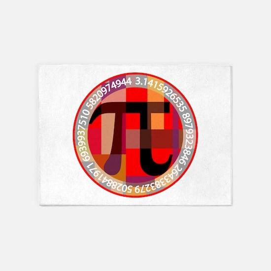 Artistic, Geometric Pi 5'x7'Area Rug