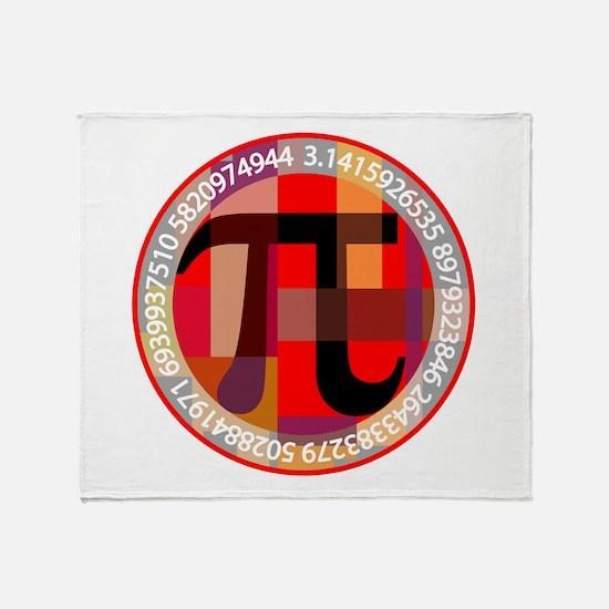 Artistic, Geometric Pi Throw Blanket