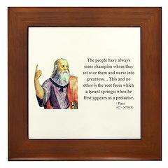 Plato 18 Framed Tile