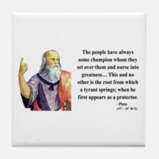 Plato 18 Tile Coaster