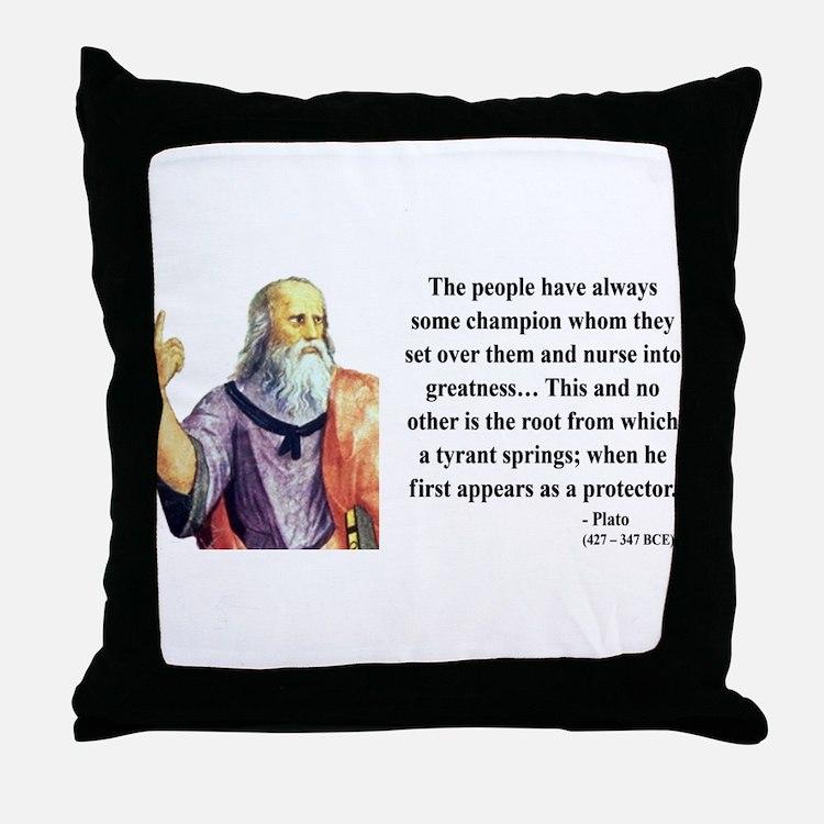 Plato 18 Throw Pillow