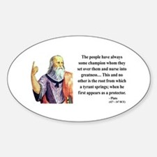Plato 18 Oval Decal
