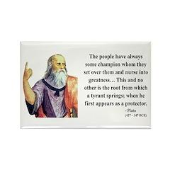 Plato 18 Rectangle Magnet (100 pack)