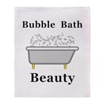 Bubble Bath Beauty Throw Blanket