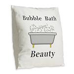 Bubble Bath Beauty Burlap Throw Pillow