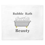 Bubble Bath Beauty King Duvet