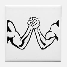 Arm wrestling Tile Coaster