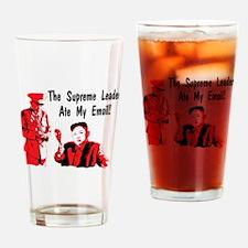 Funny North korea Drinking Glass