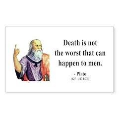 Plato 19 Rectangle Decal
