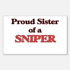 Proud Sister of a Sniper Decal