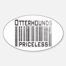 Otterhound Dog Owner Lover Oval Decal