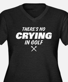 No Crying In Women's Plus Size V-Neck Dark T-Shirt