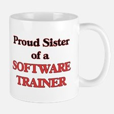 Proud Sister of a Software Trainer Mugs