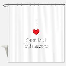 I love Standard Schnauzers Shower Curtain