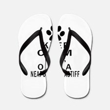 Neapolitan Mastiff Keep Calm Designs Flip Flops
