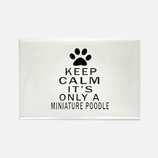 Miniature Poodle Keep Calm Design Rectangle Magnet