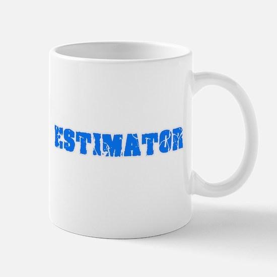 Estimator Blue Bold Design Mugs