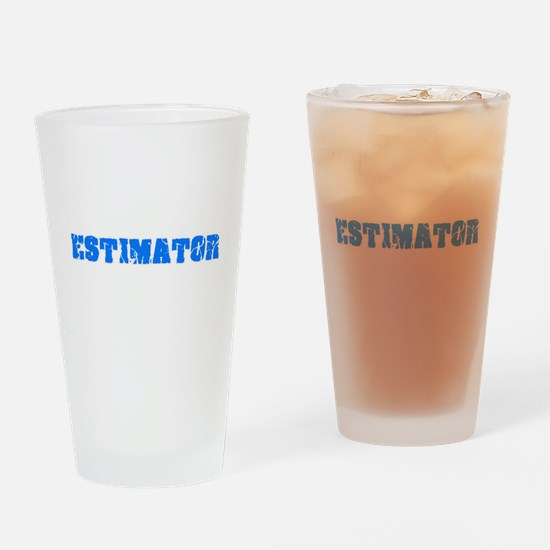 Estimator Blue Bold Design Drinking Glass