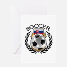 Slovakia Soccer Fan Greeting Cards