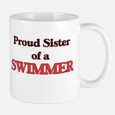 Proud Sister of a Swimmer Mugs