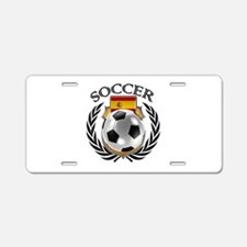 Spain Soccer Fan Aluminum License Plate