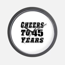 Cheers To 45 Wall Clock