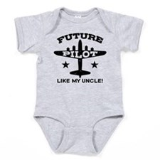 Unique A is for airplane Baby Bodysuit