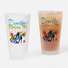 CUSTOM 70TH Drinking Glass