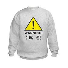 Warning I'm 6 Sweatshirt
